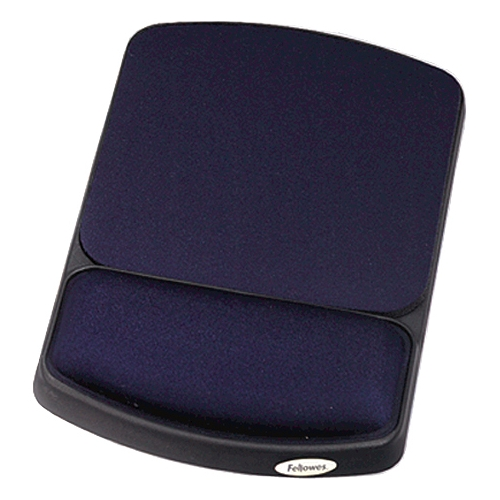 Fellowes Gel Wrist Rest and Mouse Rest - Sapphire/Black 98741