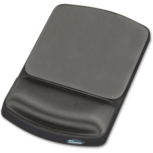 Fellowes Gel Wrist Rest and Mouse Pad - Graphite/Platinum 91741