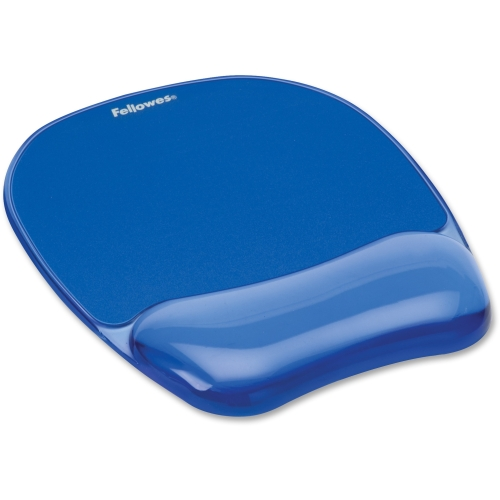 Fellowes Gel Mousepad/Wrist Rest - Crystals, Blue 91141