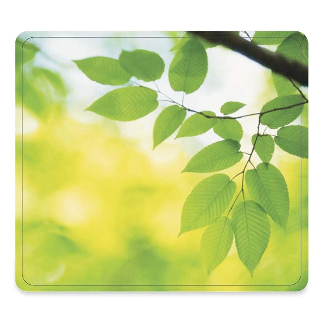 Fellowes Recycled Mouse Pad - Leaves - TAA Compliant 5903801