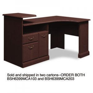 Bush Expandable Corner Desk Solution (B/F/D) Box 1 of 2 Syndicate, Mocha Cherry BSH6399MCA103 6399MCA1-03