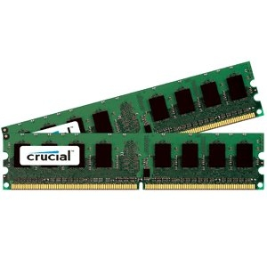Crucial 2GB kit (1GBx2), 240-pin DIMM, DDR2 PC2-6400 memory module CT2KIT12872AA80E