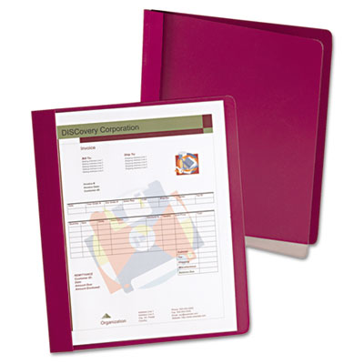 Oxford Extra-Wide Clear Front Report Covers, Letter Size, Red, 25/Box OXF5354050X ESS5354050X
