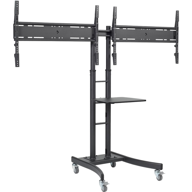 Telehook Dual Display Mobile TV Cart TH-TVCD