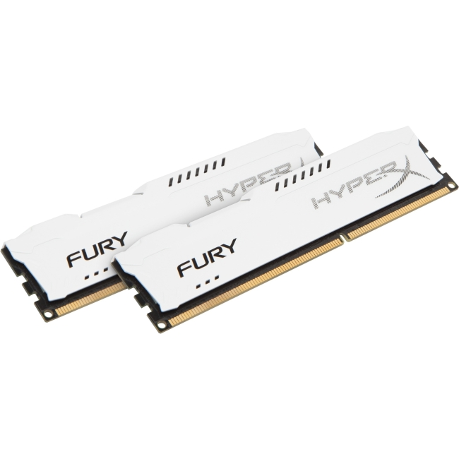 Kingston HyperX Fury Memory White - 16GB Kit (2x8GB) - DDR3 1600MHz HX316C10FWK2/16