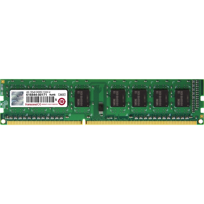 Transcend DDR3 1333 LONG-DIMM 4GB 9-9-9 1Rx8 TS512MLK64V3H