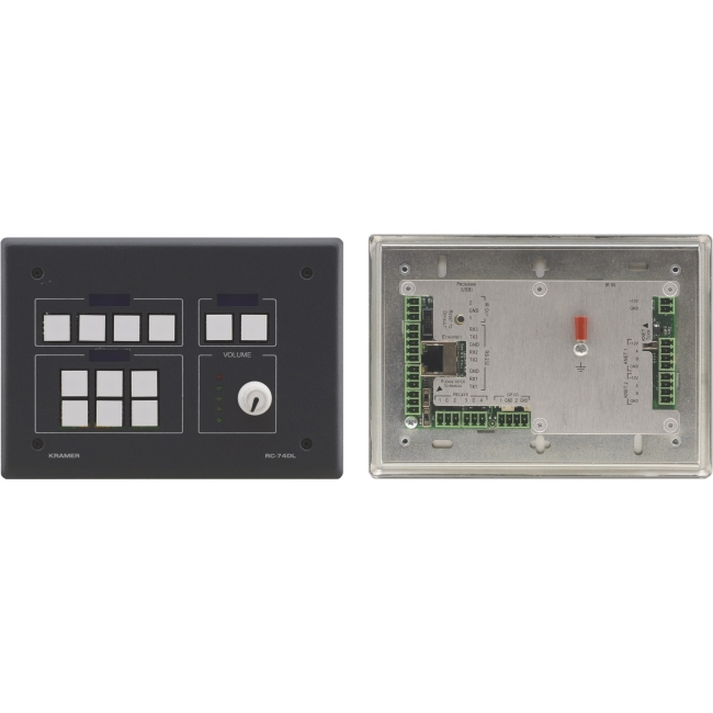 Kramer 12Button Master Room Controller with Digital Volume Knob RC-74DL