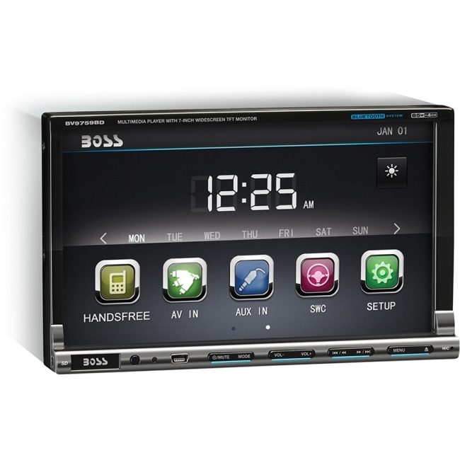 "Boss Audio Double-DIN 7"" Touchscreen TFT AM/FM RDS Receiver BV9759BD"