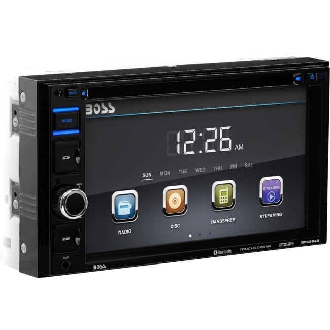 "Boss Audio In-Dash Double-DIN 6.2"" Touchscreen Monitor Bluetooth DVD Player BV9364B"