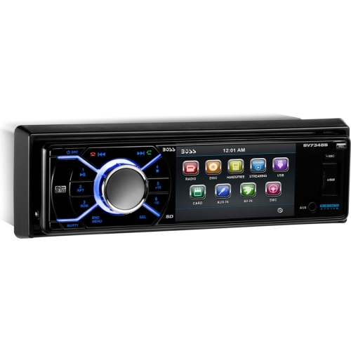 "Boss Audio Single Din 3.2"" Monitor, Bluetooth-Enabled/Audio Streaming, DVD/MP3/CD AM/FM BV7348B"