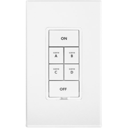 Insteon Keypad Dimmer Switch (Dual-Band), 6-Button, White 2334-232