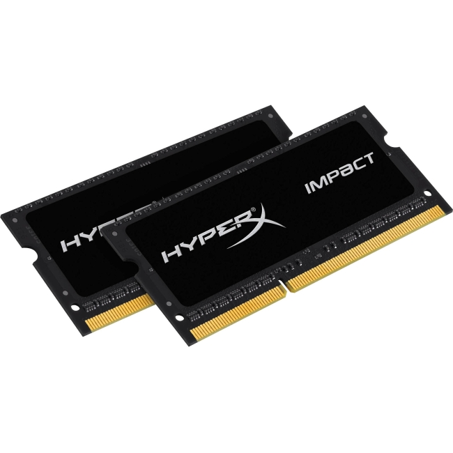 Kingston HyperX Impact SODIMM - 8GB Kit* (2x4GB) - DDR3L 1600MHz HX316LS9IBK2/8