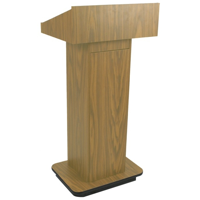 AmpliVox Executive Non-sound Column Lectern W505-OK W505