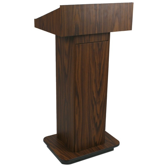 AmpliVox Executive Non-sound Column Lectern W505-WT W505