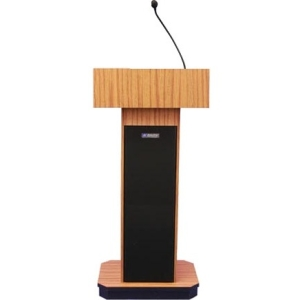 AmpliVox Wireless Executive Sound Column Lectern SW505-MH SW505