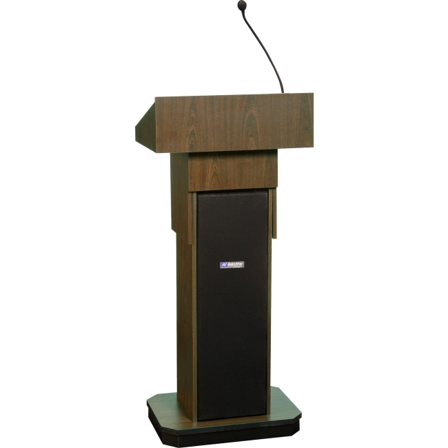 AmpliVox Executive Adjustable Column Sound Lectern S505A-WT S505A