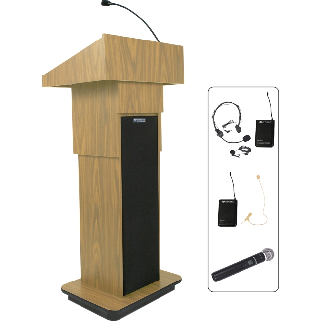 AmpliVox Wireless Executive Adjustable Column Lectern SW505A-OK SW505A