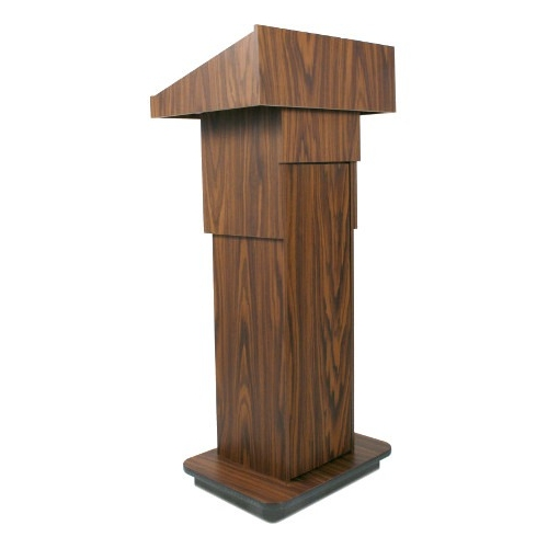 AmpliVox Wireless Executive Adjustable Column Lectern SW505A-WT SW505A