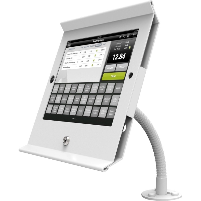 MacLocks Slide Flex iPad POS Flex Arm White 159W225POSW