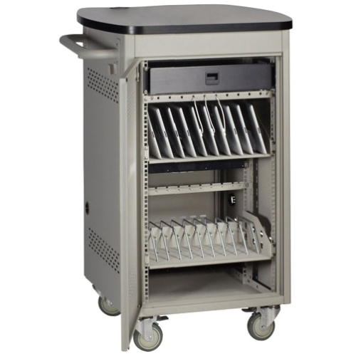 Black Box 20 Device iPad and Tablet Cart - Single Frame and Hinged Door UCCSS20H