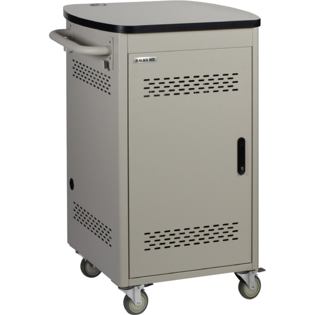 Black Box 30 Device iPad and Tablet Cart - Single Frame and Hinged Door UCCSS30H
