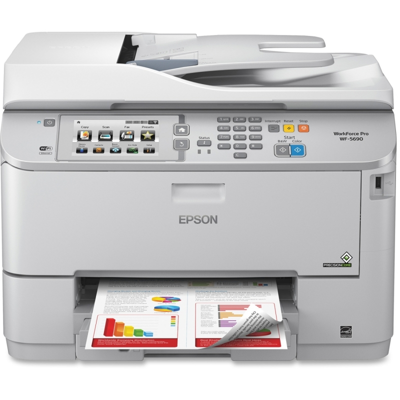 Epson WorkForce Pro Network Multifunction Color Printer with PCL/Adobe PS C11CD14201 EPSC11CD14201 WF-5690