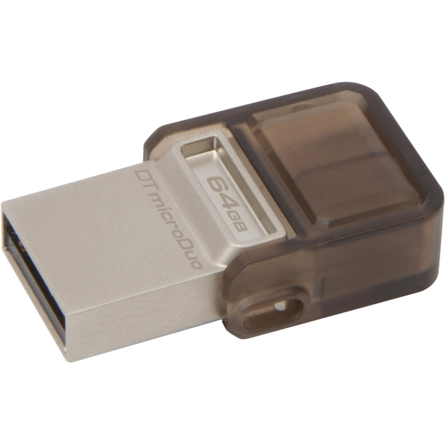 Kingston 64GB DataTraveler microDuo USB 3.0 On-The-Go Flash Drive DTDUO3/64GB