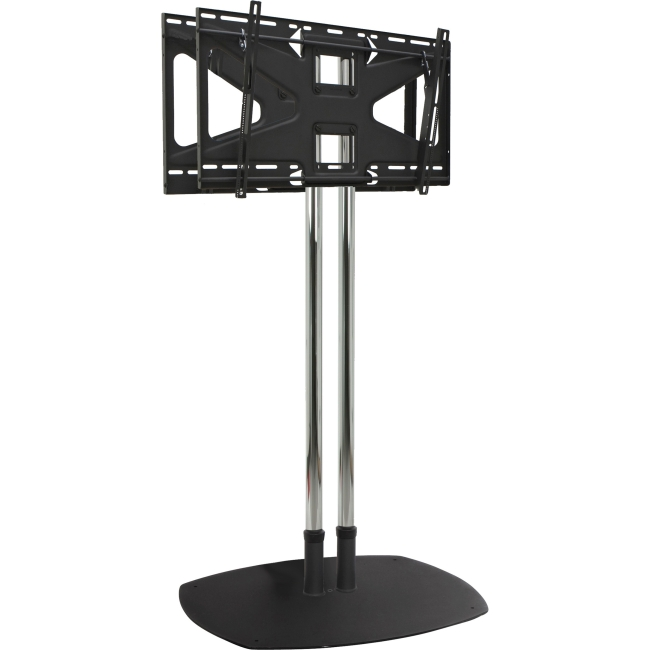 Premier Mounts Dual Pole Floor Stand with Back-to-Back Adapter and Two Tilting Mounts CS72-2MS2