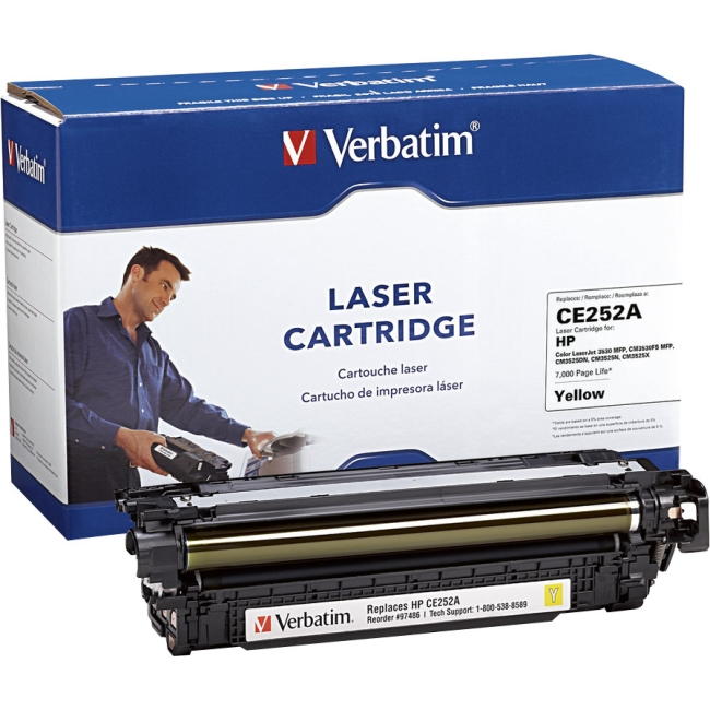 Verbatim HP CE252A Compatible Yellow Toner Cartridge 97486