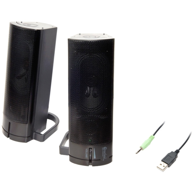 connectland multipurpose desktop pc or tv sound bar stereo speakers usb powered cl spk20037. Black Bedroom Furniture Sets. Home Design Ideas