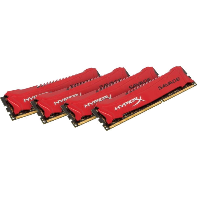 Kingston HyperX Savage Memory Red - 32GB Kit (4x8GB) - DDR3 2400MHz Intel XMP HX324C11SRK4/32