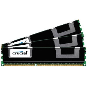 Crucial 12GB kit (4GBx3), 240-pin DIMM, DDR3 PC3-12800 Memory Module CT3K4G3ERSLD8160B