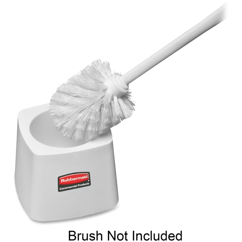 Rubbermaid Toilet Bowl Brush Holder, White 631100 RCP631100