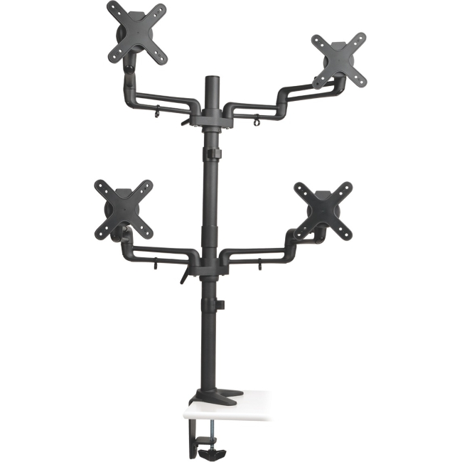 "Tripp Lite Quad Full-Motion Flex Arm Desk Clamp for 13"" to 27"" Flat-Screen Displays DDR1327SQFC"