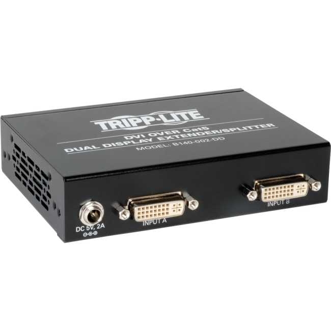 Tripp Lite DVI Over Cat5 Dual Display Extender / Splitter B140-002-DD