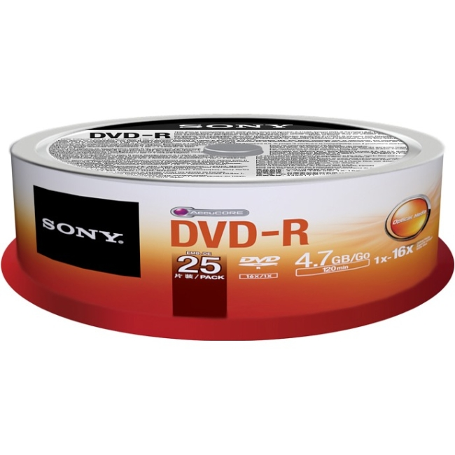 Sony DVD Recordable Media 25DMR47PP