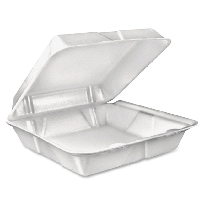 Dart Dart Large 1-Comprtmnt Carryout Foam Food Trays 90HT1R DCC90HT1R