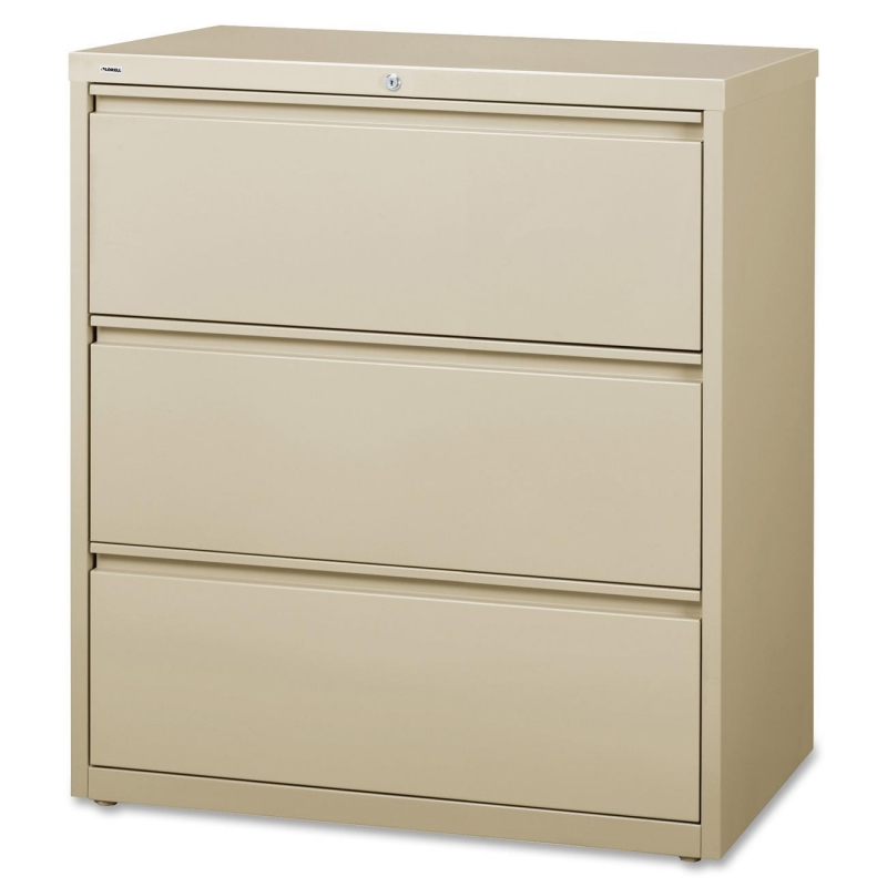 Lorell 3-Drawer Putty Lateral Files 88027 LLR88027