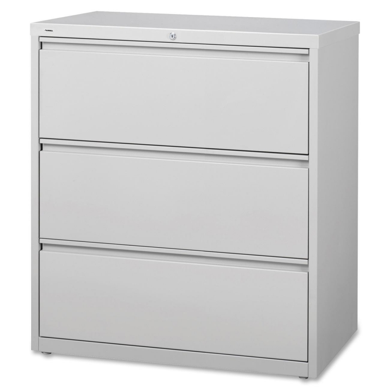 Lorell 3-Drawer Lt. Gray Lateral Files 88029 LLR88029