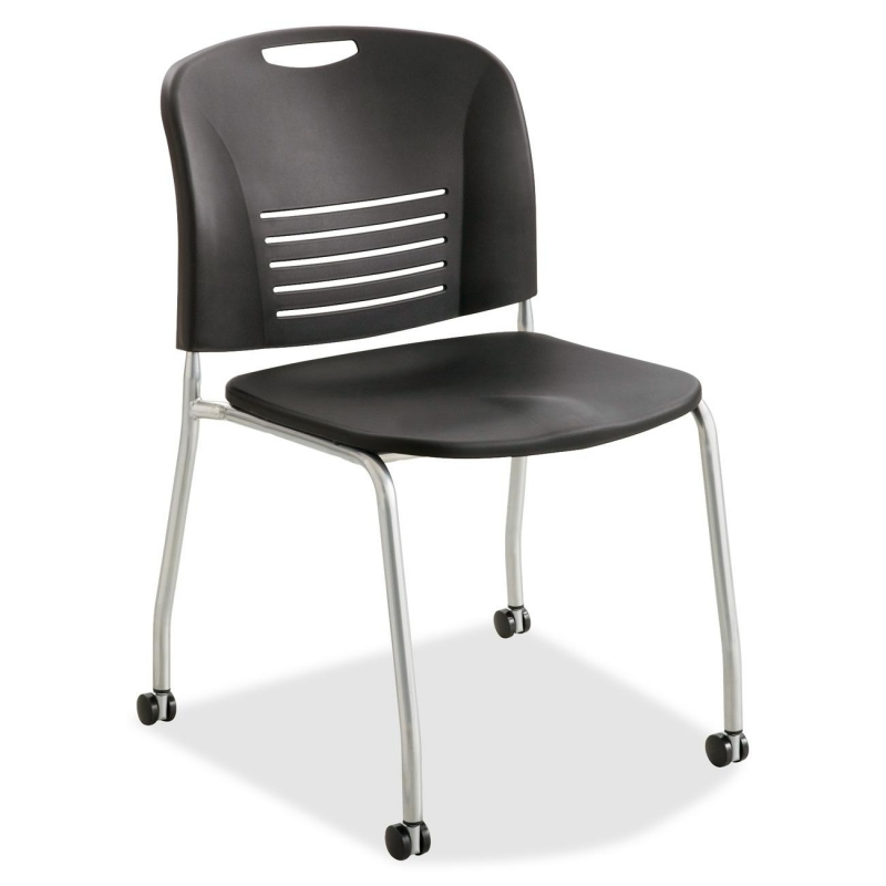 Safco Safco Vy Straight Leg Stack Chairs w/ Casters 4291BL SAF4291BL