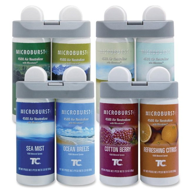 Rubbermaid Microburst Duet Variety Pack (1 of ea. refill) 3486092 RCP3486092