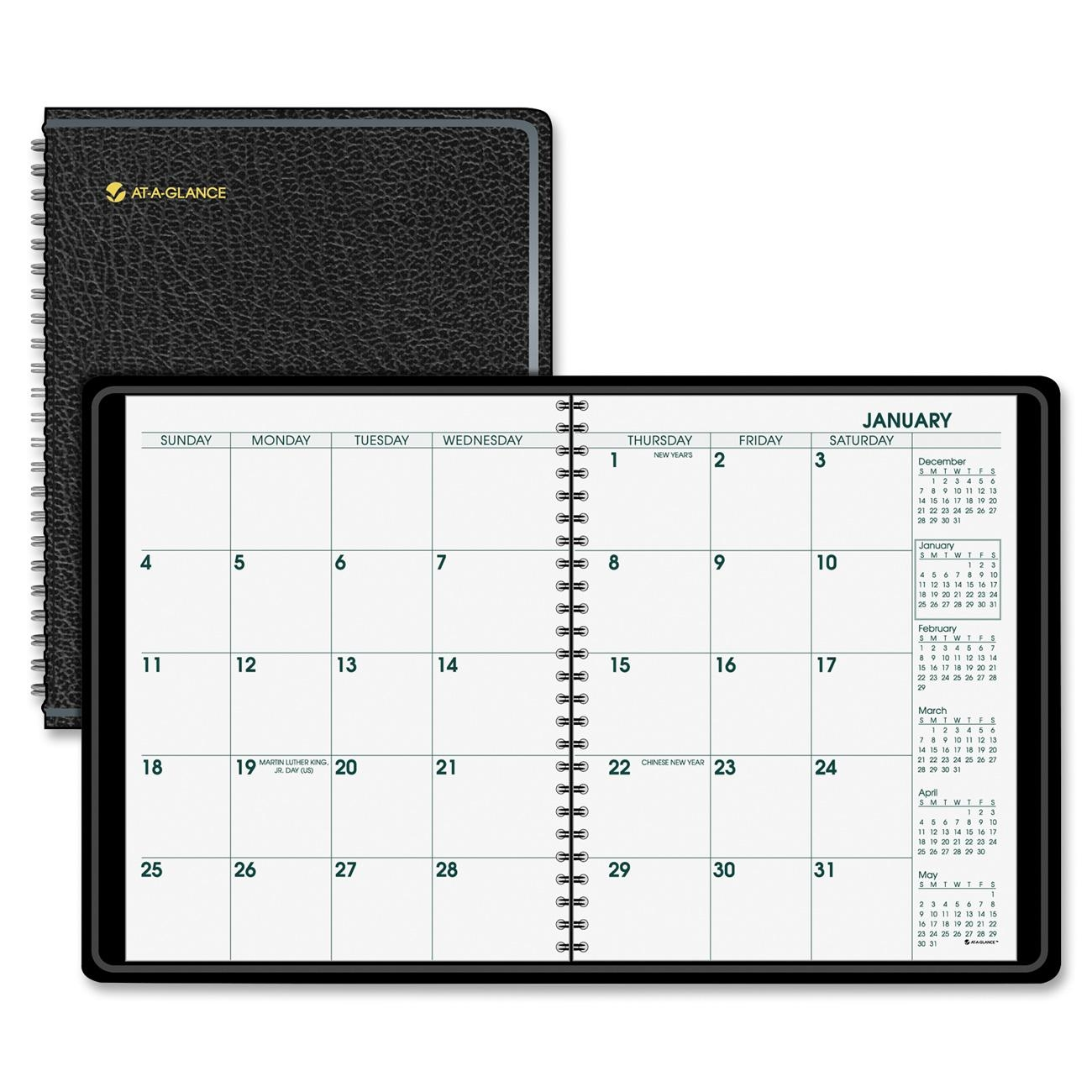 Large Calendar Planner : Large print monthly planner meadwestvaco lp