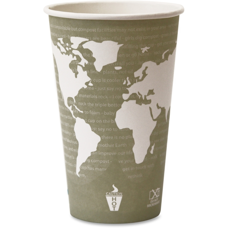 Eco-Products Eco-Products World Art Hot Beverage Cups EPBHC16WA ECOEPBHC16WA