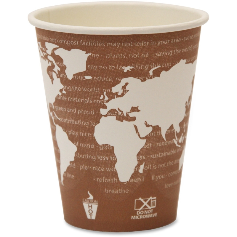 Eco-Products Eco-Products World Art Hot Beverage Cups EPBHC8WA ECOEPBHC8WA