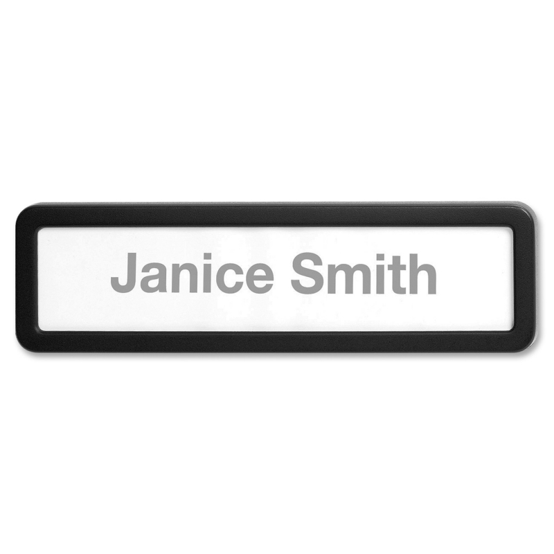 Lorell Recycled Plastic Cubicle Nameplate 80669 LLR80669