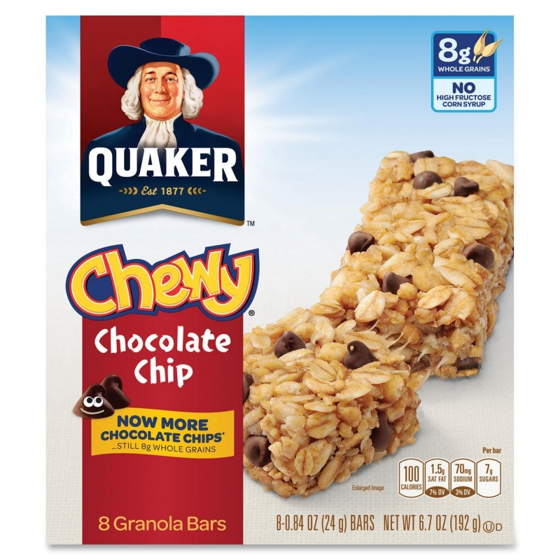 Quaker Oats Foods Chocolate Chip Chewy Granola Bar 31182 QKR31182