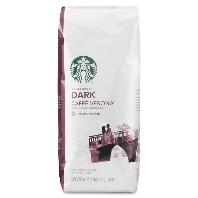 Starbucks 1lb Dark Caff Verona Ground Coffee Ground 11018131 SBK11018131