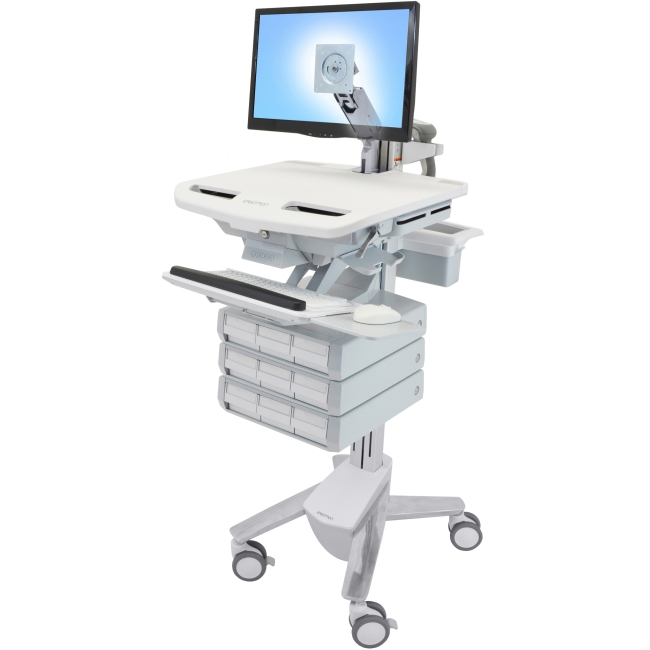 Ergotron StyleView Cart with LCD Arm, 9 Drawers SV43-1290-0 SV43