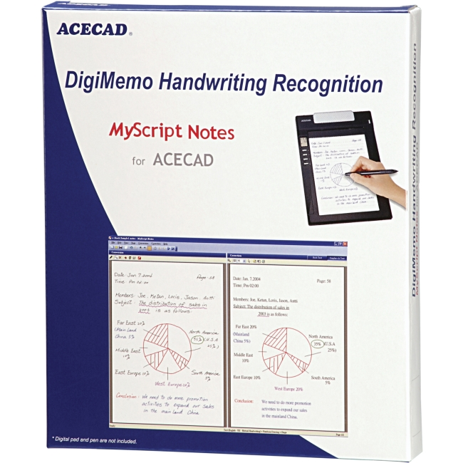 Solidtek ACECAD DigiMemo Handwriting Recognition MyScript Notes for ACECAD DM-OCR