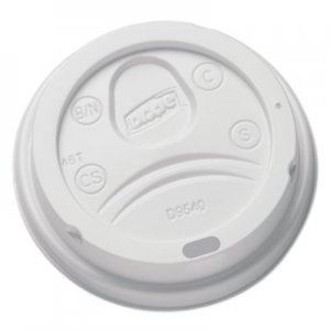 Dixie Sip-Through Dome Hot Drink Lids for 10 oz Cups, White, 100/Pack DXEDL9540 DL9540